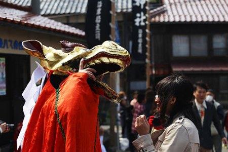 麒麟獅子 [ 田後神社(鳥取県) ]