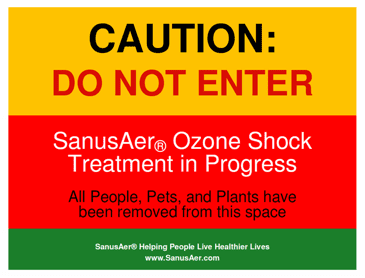 The Powers of Ozone Gener for areas being treatedators require adequate safety signage