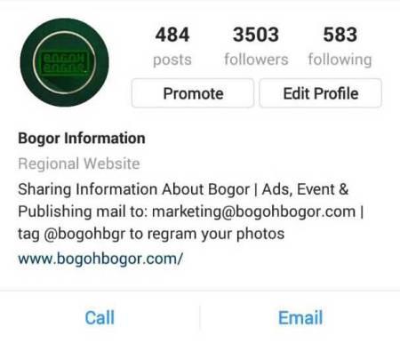 Akun Instagram bogohbgr