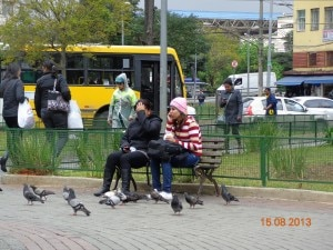 Urbanidade. Duas desconhecidas no Largo da Concórdia