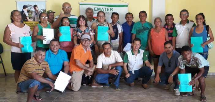 EMATER Pirabas entrega CAR  (Cadastro Ambiental Rural) a produtores locais