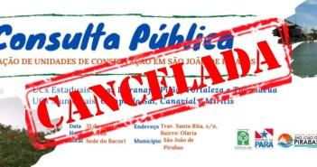 Consulta Pública Cancelada