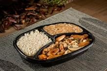Tilápioa galponeira arroz ao dente e pirão de peixe com pinhão
