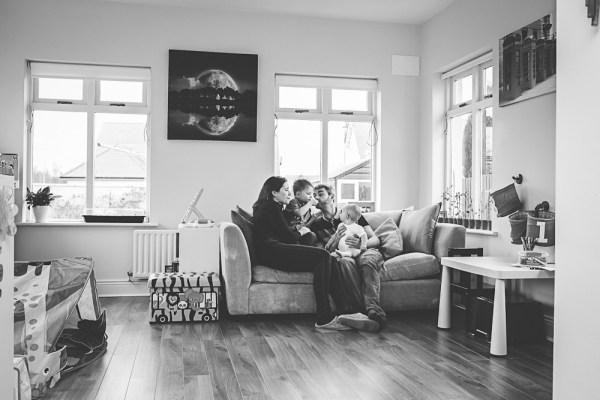 family, living room, portrait, documentary