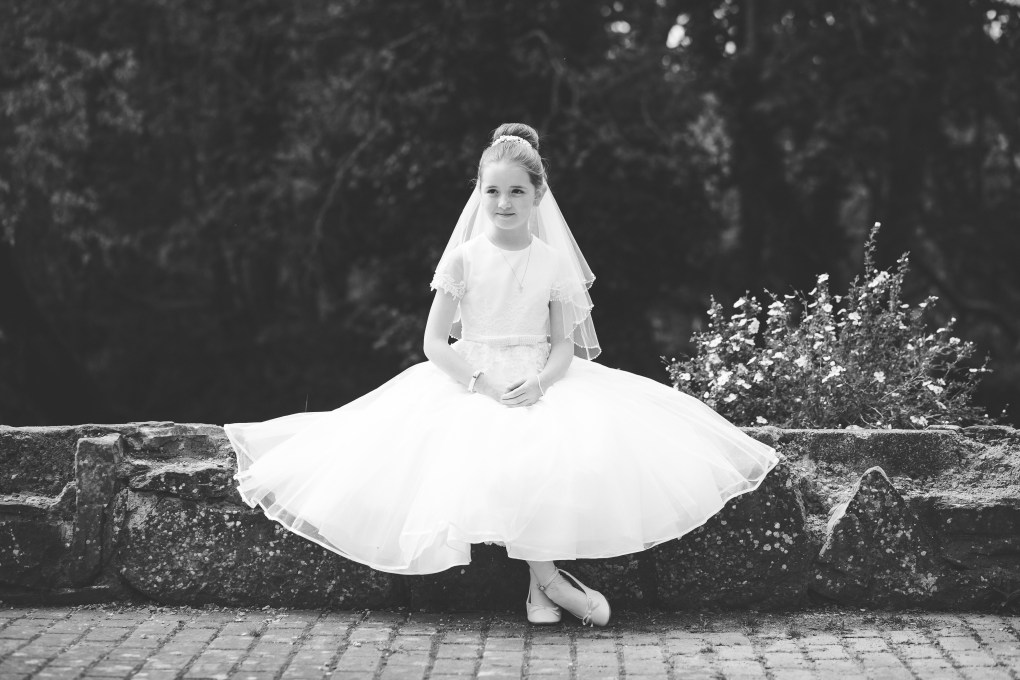 communion dress, kildare communion photography, first holy communion portrait
