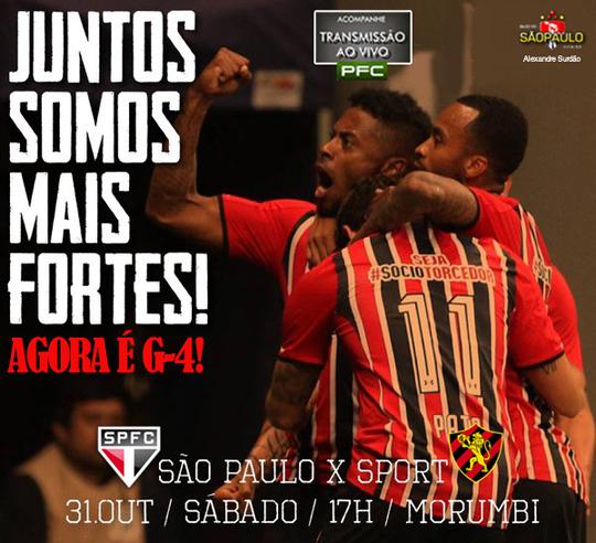 São Paulo x Sport