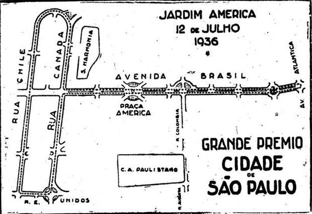 O mapa do GP - Clique para ampliar.