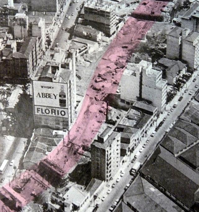 1970 - O Elevado está em obras