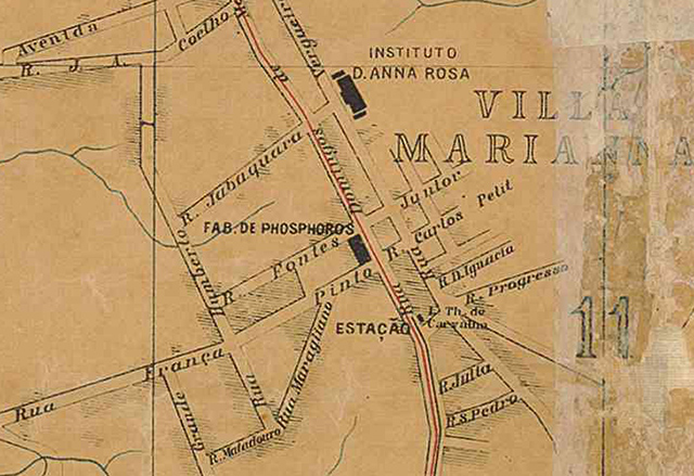 Mapa parcial da Vila Maria em 1905