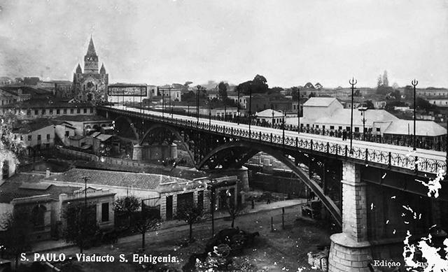Viaduto Santa Ifigênia em 1916 (clique para ampliar)