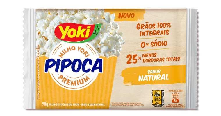 Yoki lança linha de pipoca de micro-ondas com redução de sódio e gordura