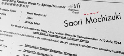 Saori Mochizuki Hong Kong Fashion Week 2014