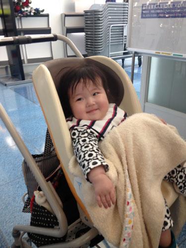 0歳児の海外旅行 羽田空港