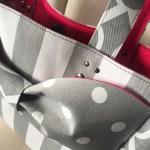 新作の水玉リボントートバッグ、完売いたしました!
