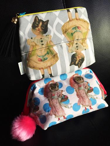 水玉 バッグ 東京 中目黒 雑貨店 雑貨屋 猫 cat ポーチ Saori Mochizuki ポーチ Accent Color LINE オリジナルグッズ 猫ポーチ