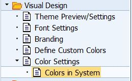 how to change system colors in sap