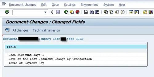 Sap Change Document for Custom Table