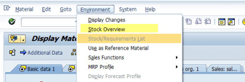 SAP Stock Overview Material