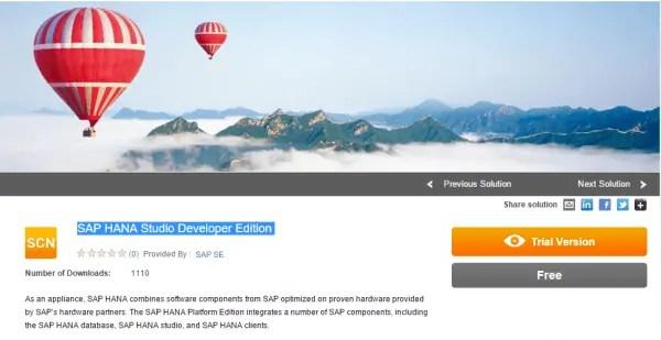 SAP HANA Studio Developer Edition