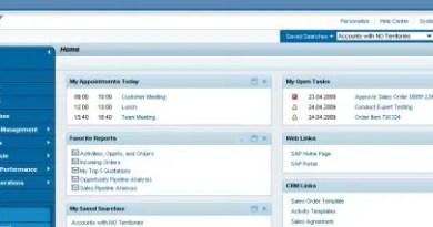 SAP CRM Web UI