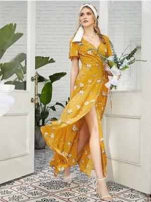 Zaful vestidos floridos Sapatinho de Cristal