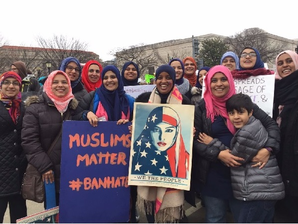 Muslim women at Womens march