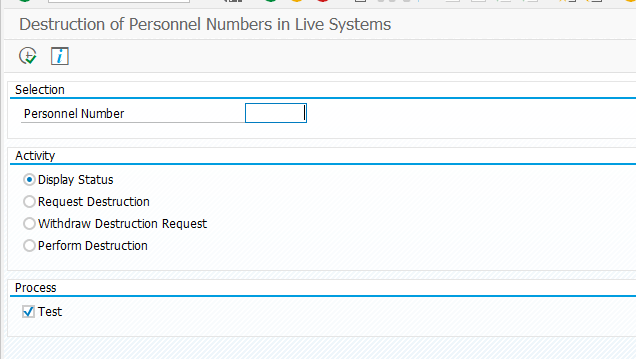 Destruction of Personnel Numbers in Live Systems