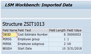 SAP LSMW Display Read Data Record