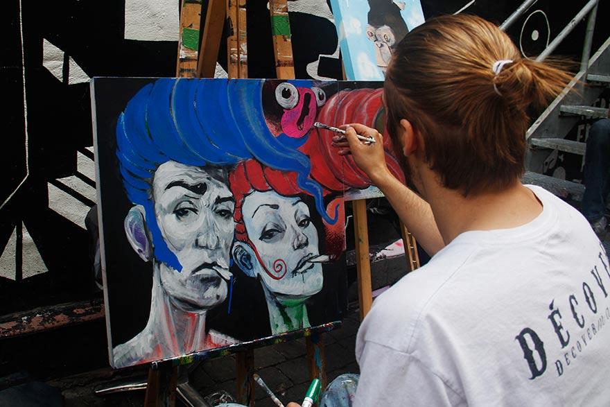 valoriser, encourager les talents - Peintre, Foufounes électriques de Montréal