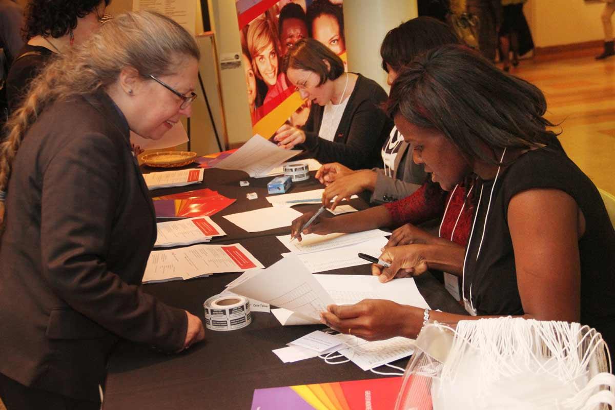 Accueil des invités et du public pour cette journée de la philantropie de la Fondation du Grand Montréal