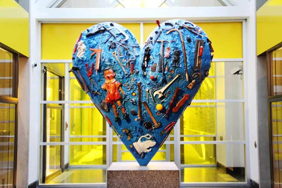 coeur, Musée des beaux arts de Montréal, bleu, jaune, conspiration des cœurs, Saphir Optimiste