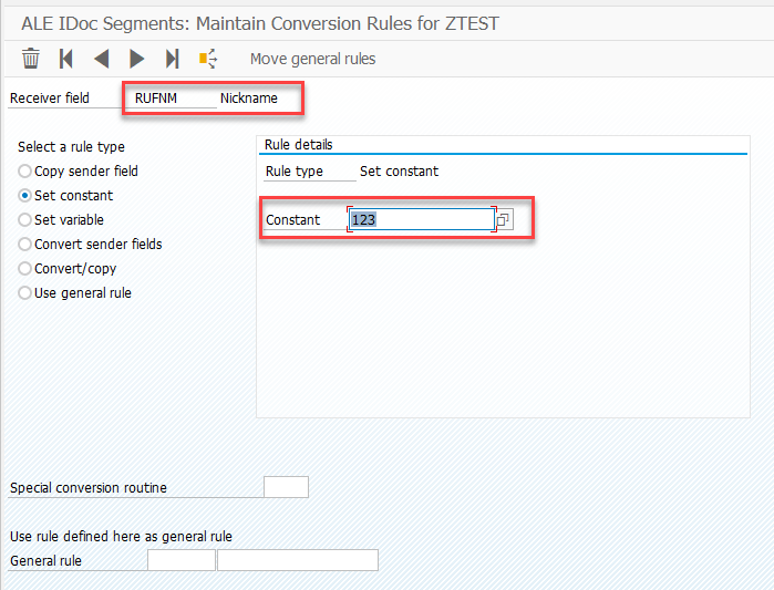 Data conversion in SAP ALE