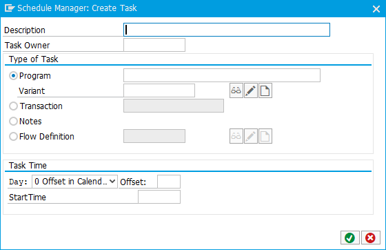 Schedule Manager: New Task