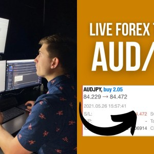 Live Forex Trading: How to Make $455 Trading AUD/JPY!   Simple Trading
