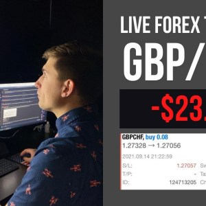 Real Forex Trading: I Bought GBP/CHF, Then THIS Happens... | Down -$23.80