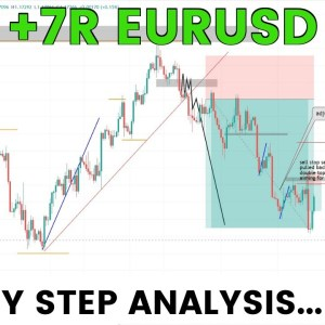 7R Win! EURUSD Forex Trading SIMPLE Price Action Strategy Step by Step...