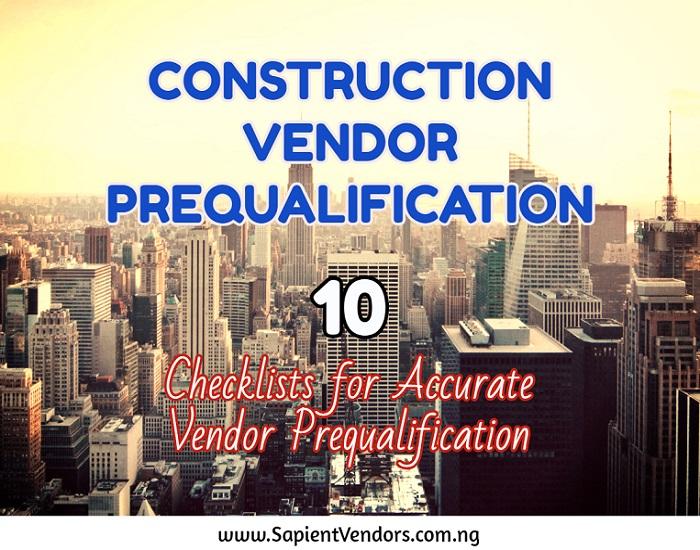 construction vendor prequalification