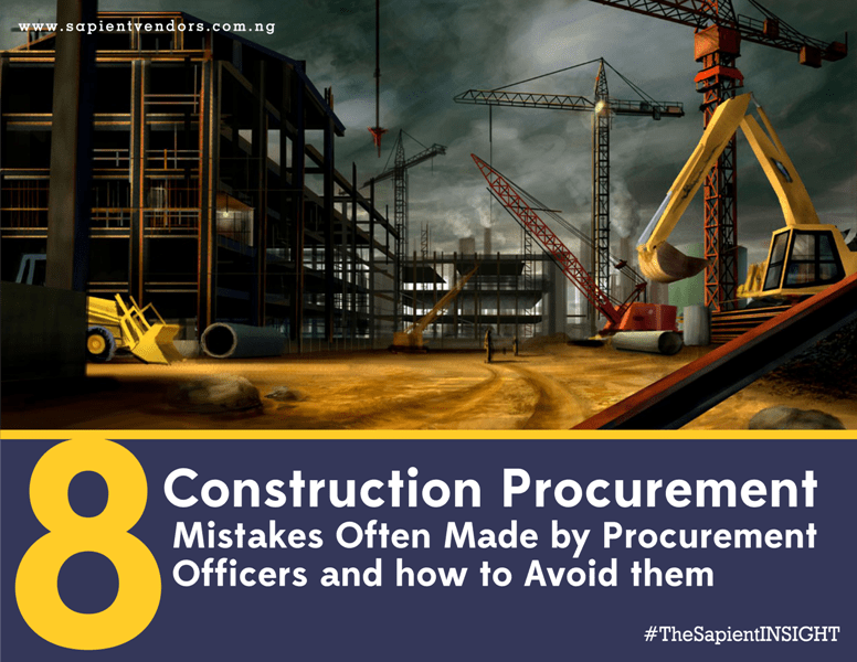 construction procurement mistakes