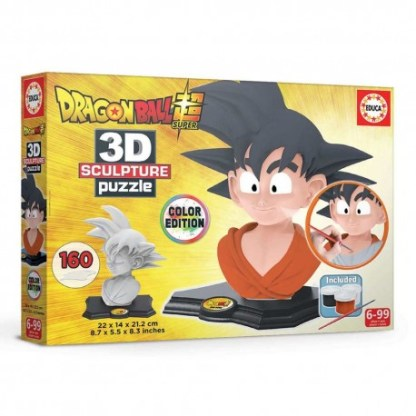 dragon ball puzzle 3d color escultura