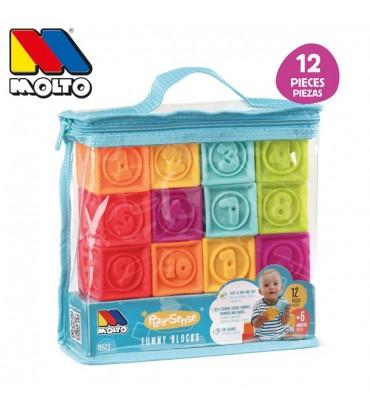 bolsa cubos sensoriales 12 pcs