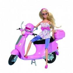 muneca steffi con scooter