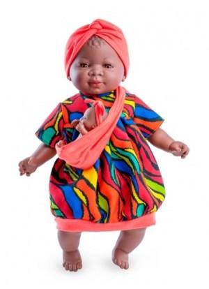 Muñeca negrita con bebe