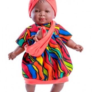 María muñeca negrita y bebe