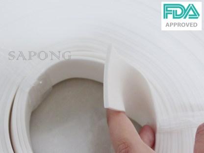 ยางฟองน้ำซิลิโคนสีขาว ความหนา 2 mm พร้อมส่ง