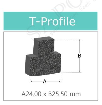 ยางฟองน้ำ T-profiles