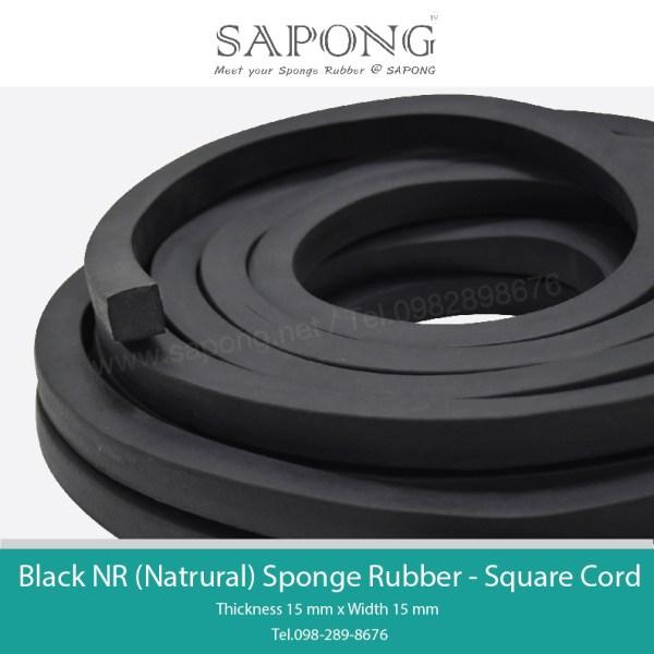 Black NR Rubber Sponge