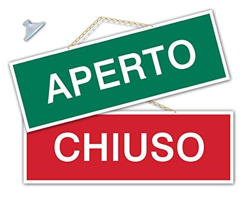 Aperto Chiuso 開店・閉店掲示板(緑&赤、銀)