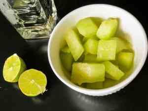 Spicy Honeydew Basil Margarita