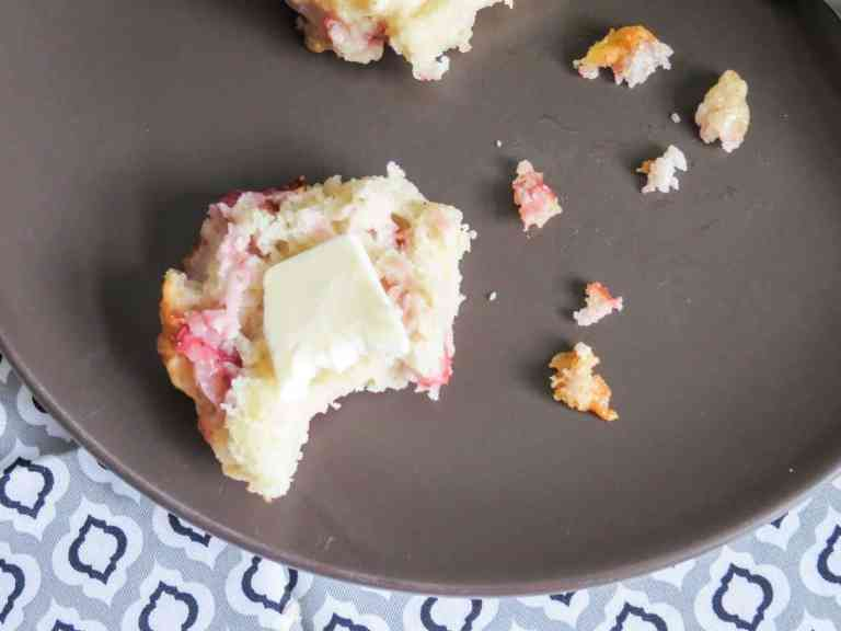 strawberry biscuit on a plate