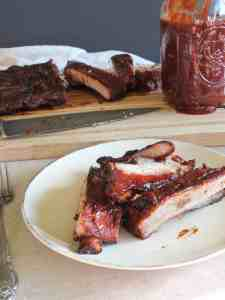 Pork Ribs with Coffee Molasses BBQ Sauce | Saporito Kitchen